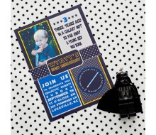 Star Inspired Birthday Party Printable Invitation